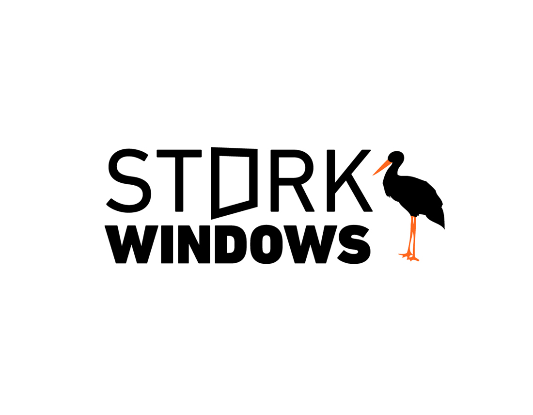 stork sash windows logo design - wedesign360.com - design agency