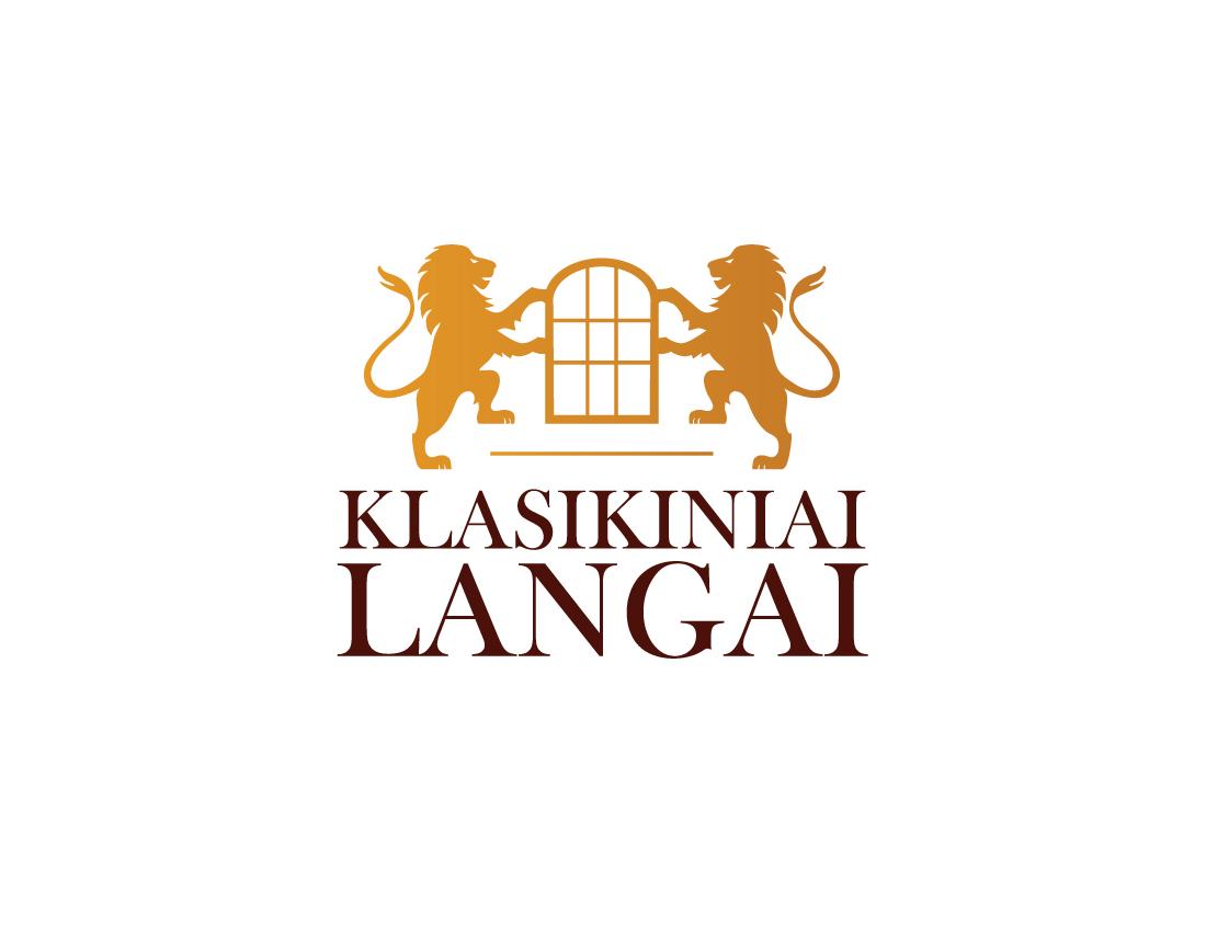 klasikiniai langai logo design