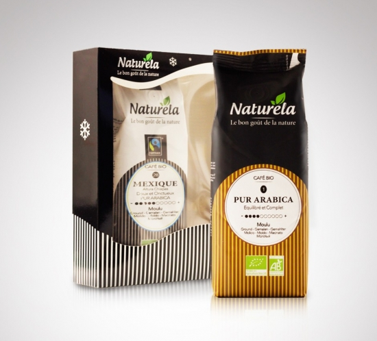 Naturela coffe packaging design
