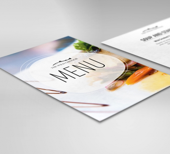 chinuk restaurant menu design