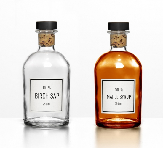 Birch sap & Maple syrup packaging design