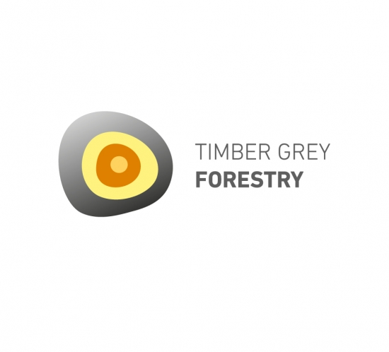 Timber grey forestry logotype