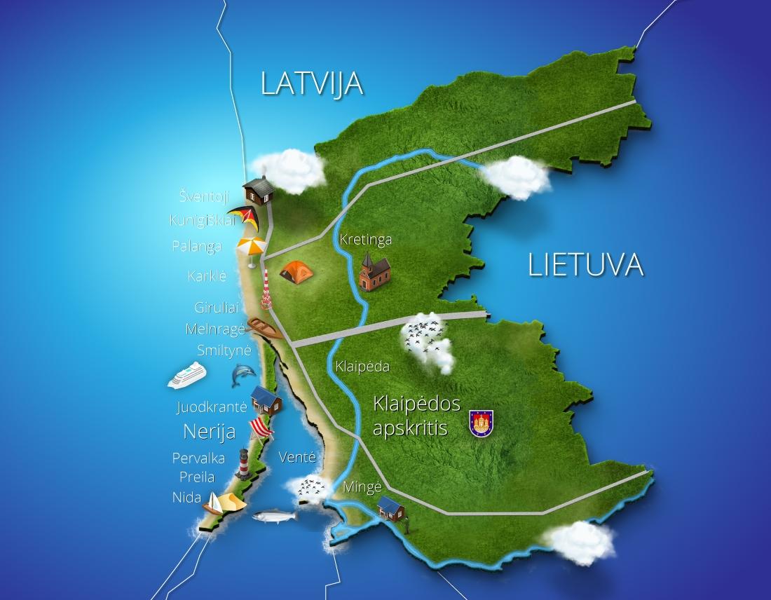 Priejuros.lt website map design